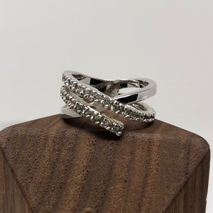 NEW RS Covenant Cubic Zirconia Criss-Cross Ring 5